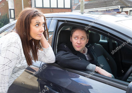 Ep 8548 Monday 5th January 2015 - 2nd Ep Michelle Connor, as played by Kym Marsh, catches up with Hamish, as played by James Redmond, intending to tell him she's changed her mind, but she bottles it.