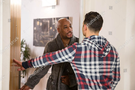 Ep 8578 Monday 16 February 2015 - 2nd Ep Tracy and Tony Stewart, as played by Terence Maynard, spend the afternoon in bed at Tony's flat. When Jason Grimshaw, as played by Ryan Thomas, knocks at the door, Tony fobs him off, but as he makes to leave Jason hears a woman's voice.