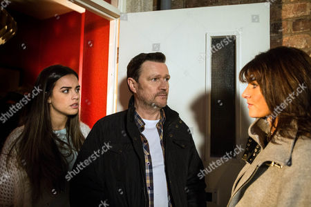 Ep 8574 Wednesday 11 February 2015 Izzy refuses to meet with Linda, as played by Jacqueline Leonard, but intrigued to hear what she has to say, Katy Armstrong, as played by Georgia May Foote, secretly invites her over to the flat. Linda assures Katy she's always loved both she and Izzy, that she made mistakes and just wants a chance to put things right. As Katy sees Linda out, Owen Armstrong, as played by Ian Puleston-Davies, spots them and angrily heads over. But will he be able to keep them apart?