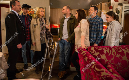 Ep 8613 Wednesday 8 April 2015 Greig Hodge, as played by Stuart Wolfenden, and Josie Hodge, as played by Una McNulty, arrive with Jackson Hodge, as played by Rhys Cadman, as Faye Windass, as played by Ellie Leach, hides away in the bedroom, unable to face them. Anna Windass, as played by Debbie Rush, drops the Michelle 'Bombshell' McGee that Faye has had a baby and claims the father is Jackson. Jackson denies that he's ever been near Faye and his parents immediately leap to his defence. Faye emerges from the bedroom upset and calls him a liar. As a row ensues will the truth come out?