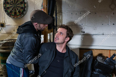 Ep 8622 Monday 20 April 2014 - 2nd Ep Callum Logan, as played by Sean Ward, is stunned to find Andy Carver, as played by Oliver Farnworth, in his car and frogmarches him into the pub, demanding answers. Andy makes out he was trying to steal his car and the drugs just fell out of his pocket. Callum's having none of it and menacingly threatens Andy, until David Platt, as played by Jack P Shepherd, bursts in, admitting that he ordered Andy to plant drugs with the intention of then reporting Callum to the police. As an angry Callum vows to teach him a lesson, David does a runner. Andy arrives at his birthday party, explaining to Gail and Steph how David's in trouble. As David runs down a darkened street, he's suddenly pounced upon by Gemma, Callum and Macca who drag him towards the car!