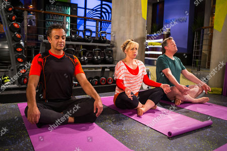Ep 8668 Wednesday 24 June 2015 Dev Alahan, as played by Jimmi Harkishin, and Julie Carp, as played by Katy Cavanagh, attend Talisa's first yogalates class at the gym, but Julie is left unimpressed when Brian Packham, as played by Peter Gunn, parks himself on a mat next to her. He takes the opportunity to offer Julie a last chance to go on holiday with him, will she finally give in?