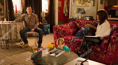 Stock Picture of Ep 8592 Monday 9 March 2015 - 1st Ep While Owen Armstrong, as played by Ian Puleston-Davies, baby-sits Jake and Joseph, Linda, as played by Jacqueline Leonard, calls round hoping to spend some time with her grandchildren before heading back to Portugal. Anna's jealous and it seems she has a right to be when Linda confesses to Owen that she's always loved him and deeply regrets her affair. But when she suggests to Owen that he and the girls should move abroad with her and give their relationship another try, how will Owen react?