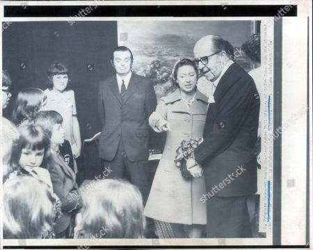 Editorial image of Princess Margart Meets American Actor Phil Silvers Of Sgt.bilko Fame When She Attended An Agm In Edinburgh City Chambers. Credit Wilson Edinburgh....royalty
