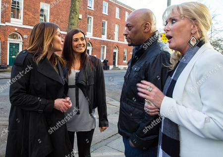 Ep 8644 Friday 22 May 2015 - 1st ep As Liz McDonald, as played by Beverley Callard, and Tony Stewart, as played by Terrence Maynard, wait nervously at the solicitor's, Carla Connor, as played by Alison King, and Michelle Connor, as played by Kym Marsh, arrive, explaining how there's no need to sell to Travis Ltd as Carla's seen her bank manager and would like to buy into the Rovers. Tony reels. With Tracy waiting expectantly, can Tony close the deal?