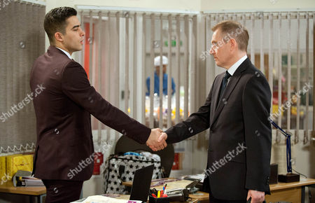 Ep 7407 Monday 25 January 2016 Kirin Kotecha, as played by Adam Fielding, stressed at having to juggle work and a baby and is slumped over his desk when the businessmen arrive. They aren't impressed as one of them mentions his drugs possession charge. Can Kirin cope with being a dad and a businessman?
