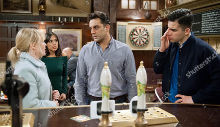 Ep 7393 Thursday 7th January 2016 - 2nd Ep As the search for Johnny and Adam continues, Kirin Kotecha, as played by Adam Fielding, is soon shocked to hear from Vanessa Woodfield, as played by Michelle Hardwick, he is Johnny's father. A worried Rakesh Kotecha, as played by Pacha Bocarie, looks to Priya Sharma, as played by Fiona Wade, in panic. Fully aware their lives are about to crash around them. How long before their meddling is exposed?