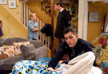 Ep 7419 Monday 8 February 2016 Vanessa Woodfield, as played by Michelle Hardwick, is really unwell and tells Kirin Kotecha, as played by Adam Fielding, to bring her a bucket and call for a doctor as he struggles with a crying Johnny. The doctor confirms Vanessa has the norovirus and advises her to stay away from Johnny for two days. How will Kirin cope having to look after Johnny on his own?