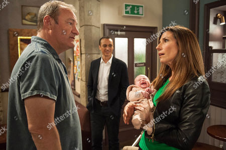 Ep 7487 Wednesday 27 April 2016  Jimmy King, as played by Nick Miles, suggests to Megan Sharma, as played by Gaynor Faye, she should let Jai Sharma, as played by Chris Bisson, look after the baby. Jai is chuffed when Megan suggests they come to an arrangement with Eliza.