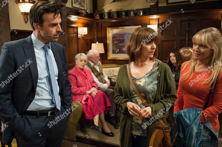 Ep 7545 & 7546 Tuesday 5 July 2016  Rhona Goskirk, as played by Zoe Henry, tries to convince Pierce, as played by Jonathan Wrather, not to give up on them but he insists they're both in different places. Later, after Rhona gets upset to overhear Pearl Ladderbanks, as played by Meg Johnson, and Brenda gossiping about her she decides to take matters into her own hands.