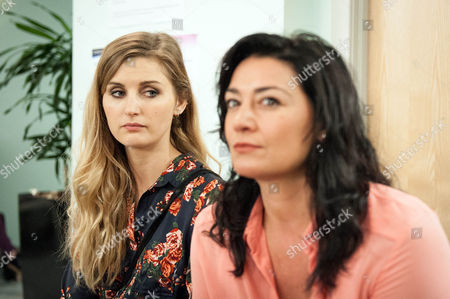 Ep 7599 Friday 26 August 2016 At the HIV clinic, Moira Dingle, as played by Natalie J Robb, learns Holly Barton's, as played by Sophie Powles, missing her interview and tries to make her go. Will Moira be in the clear? And will Holly make her interview or will her past come back to haunt her?