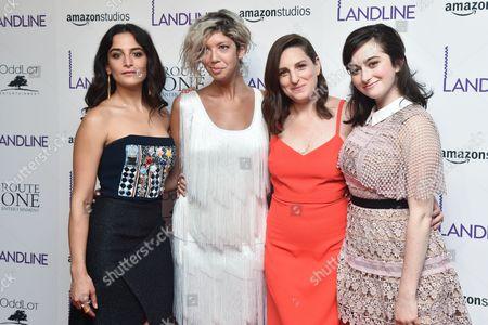 Stock Image of Jenny Slate, Elisabeth Holm, Gillian Robespierre, Abby Quinn