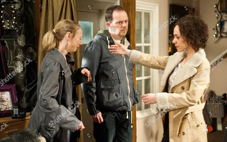 Ep 7170 Thursday 30 April 2015 - 1st Ep Ali Spencer, as played by Kelli Hollis, Ruby Haswell, as played by Alicya Eyo, and Dan Spencer, as played by Liam Fox are gutted about the bad news about Sean.