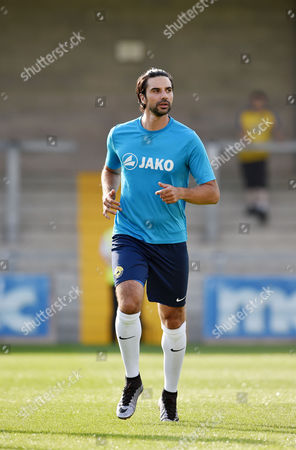 Rory Fallon on tries for Torquay United, during the pre season friendly match between Torquay United and Plymouth Argyle, on Tuesday 18th July 2017 at Plainmoor, Torquay, Devon