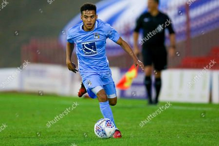 Coventry City defender Devon Kelly-Evans (17) in action  during the Pre-Season Friendly match between Barnsley and Coventry City at Oakwell, Barnsley