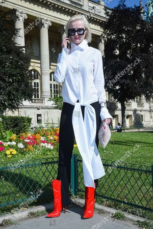 Editorial picture of Street Style, Haute Couture Fashion Week, Paris, France - 04 Jul 2017