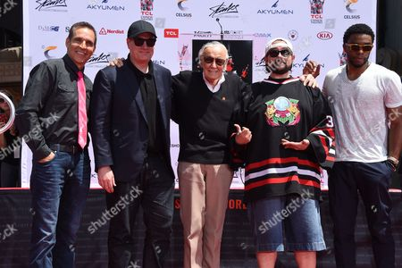 Todd McFarlane, Kevin Feige, Kevin Smith, Stan Lee and Chadwick Boseman