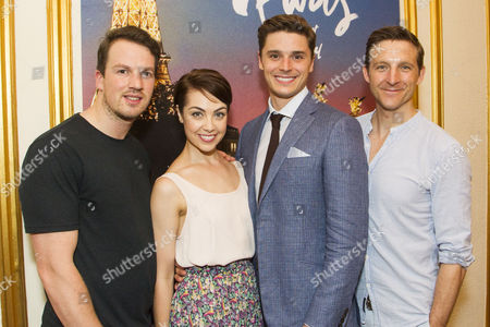 Stock Picture of David Seadon-Young (Adam Hochberg), Leanne Michelle Cope (Lise Dassin), Ashley Day (Jerry Mulligan) and Haydn Oakley (Henri Baurel)