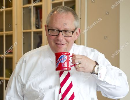 Michael R. Caputo, a Republican political strategist and media consultant, enjoys a cup of coffee as he prepares for his testimony before the United States House Permanent Select Committee on Intelligence as part of their investigation into Russian interference in the 2016 US presidential election, at the home of a long-time friend in McLean, Virginia.