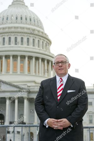 Michael R. Caputo, a Republican political strategist and media consultant, poses for a photo on the East Front of the United States Capitol following his testimony before the United States House Permanent Select Committee on Intelligence as part of their investigation into Russian interference in Washington, DC.