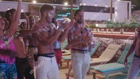 Alex Beattie and Jamie Jewitt at the Glitter Party - Series 3, Episode 45