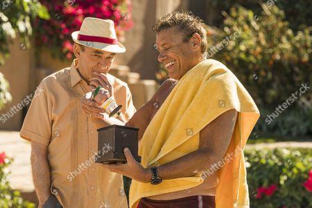 Steven Bauer as Don Flavio, Mark Margolis as Hector Salamanca - Better Call Saul _ Season 3, Episode 4 - Photo Credit: Michele K. Short/AMC/Sony Pictures Television