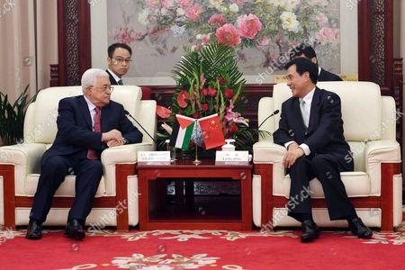 Palestinian President Mahmoud Abbas meets with Chinese Vice President Li Yuanchao