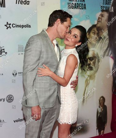 Stock Picture of Cory Brusseau and Martha Higareda