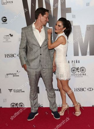 Stock Image of Cory Brusseau and Martha Higareda
