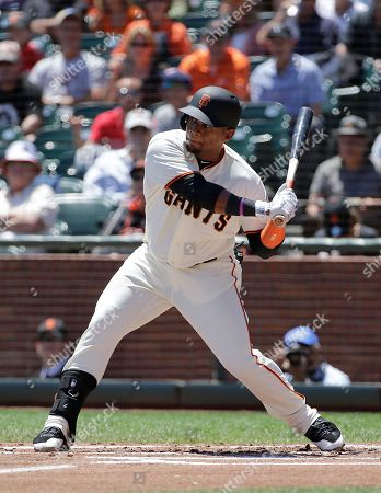 San Francisco Giants' Miguel Gomez during a baseball game against the Cleveland Indians in San Francisco