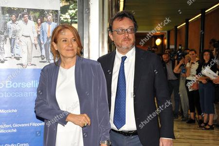 Monica Maggioni and Mario Orfeo