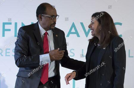 Michel Sidibe and Anne Hidalgo