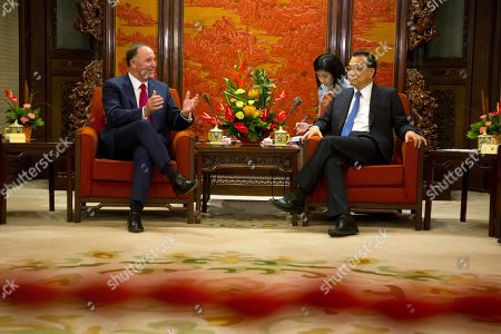 John Key, Li Keqiang Former New Zealand Prime Minister John Key, left, and Chinese Premier Li Keqiang talks during a meeting at the Zhongnanhai Leadership compound in Beijing . Key is leading a business delegation to the Chinese capital