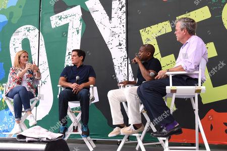Stock Picture of Samantha Bee, Mark Cuban, Carlos Watson, Jeb Bush