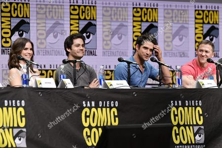 Shelley Hennig, Dylan O'Brien, Tyler Posey and Jeff Davis