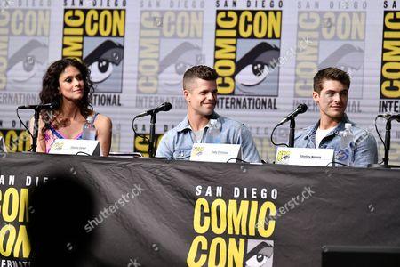 Melissa Ponzio, Charlie Carver and Cody Christian