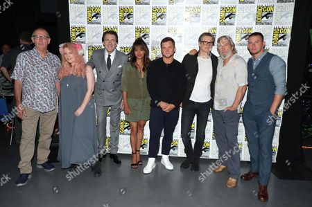 Dave Gibbons, Writer, Jane Goldman, Writer, Jonathan Ross, Halle Berry, Taron Egerton, Colin Firth, Jeff Bridges and Channing Tatum