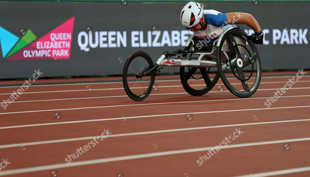 Hannah Cockroft of Great Britain during the Womens 400m T34 Final