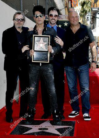 Criss Angel, Gary Oldman, Lance Burton and Randy Couture