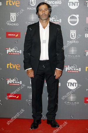 Stock Photo of Colombian actor and producer Juan Pablo Shuk poses as he arrives at the presentation of the Platino Awards at the Callao Cinema in Madrid, Spain, 20 July 2017. The Magic Box will be the venue for the fourth edition of the Ibero American Cinema Platino Awards next 22 July.