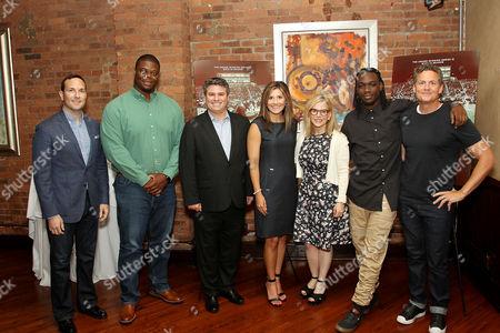 Joe LaBracio (SVP Programming Conde Nast Entertainment), Coach Davern Williams, Adam Del Deo (Netflix), Brittany Wagner, Dawn Ostroff (Pres. Conde Nast Entertainment), Isaiah Wright, Greg Whiteley (Director)