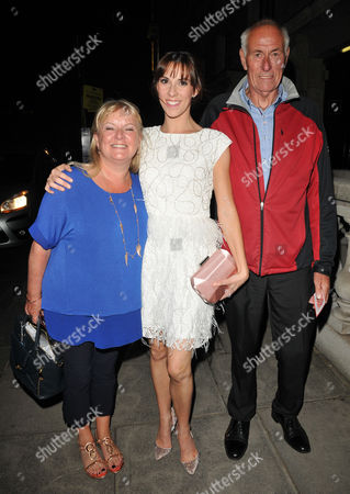 Stock Image of Verity Rushworth and her parents