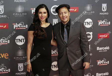 Rob Schneider and Patricia Azarcoya