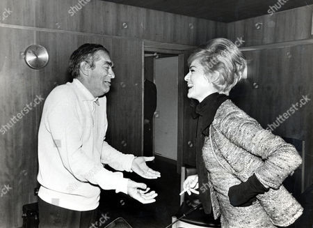 Tony Hancock Actor And Comedian (died June 1968) Is Pictured With Actress Margit Saad At The Festival Hall After His Show.