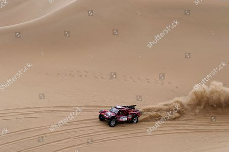Italian driver Eugenio Amos of Two Wheels Drive team in action during the twelfth leg of the Silk Way Rally 2017 from Jiayuguan to Alxa youqi, China, 20 July 2017. (Issued 21 July 2017).