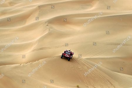 Italian driver Eugenio Amos of TWO WHEELS DRIVE in action during the twelfth leg of the Silk Way Rally 2017 from Jiayuguan to Alxa youqi, China, 20 July 2017.