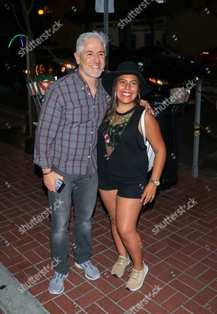 Stock Image of Carlos Alazraqui and fan