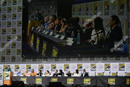 Stock Image of Chris Hardwick, Dave Erickson, Kim Dickens, Colman Domingo, Frank Dillane, Alycia Debnam Carey, Sam Underwood, Daniel Sharman, Dayton Callie, Mercedes Masohn and Michael Greyeyes