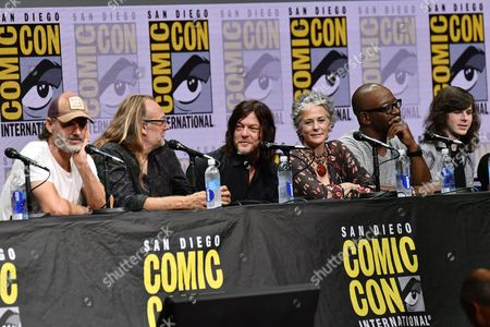 Andrew Lincoln, Greg Nicotero, Norman Reedus, Melissa McBride, Lennie James and Chandler Riggs