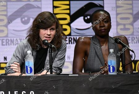 Chandler Riggs and Danai Gurira